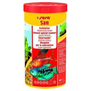 Sera San - 1000 ml Flockenfutter zur Farbunterstützung