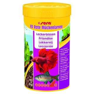 Sera FD Rote Mückenlarven - 250 ml