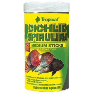 Tropical Cichlid Spirulina Medium Sticks - 250 ml