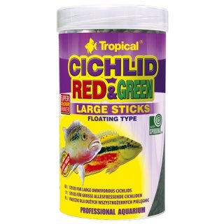 Tropical Cichlid Red & Green Large Sticks - 250 ml