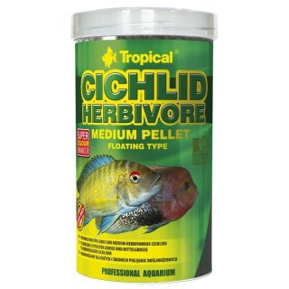 Tropical Cichlid Herbivore Medium Pellet - 500 ml
