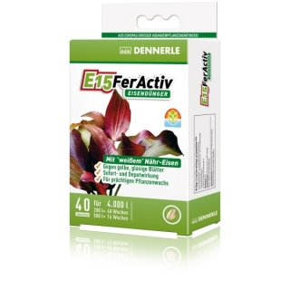 Dennerle E15 FerActiv - 40 Tabletten
